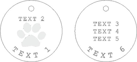 Psí známka Plate