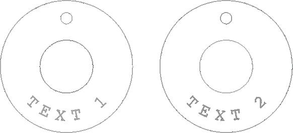Psí známka Circle