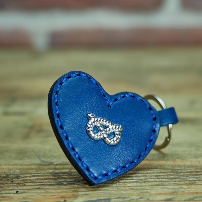 Staffie Heart Keyring