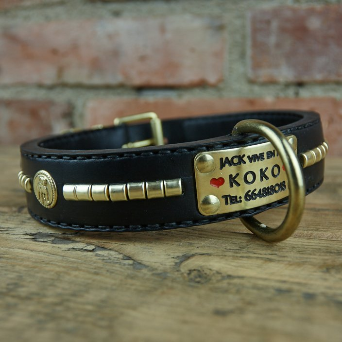 Uncle Sam leather collar